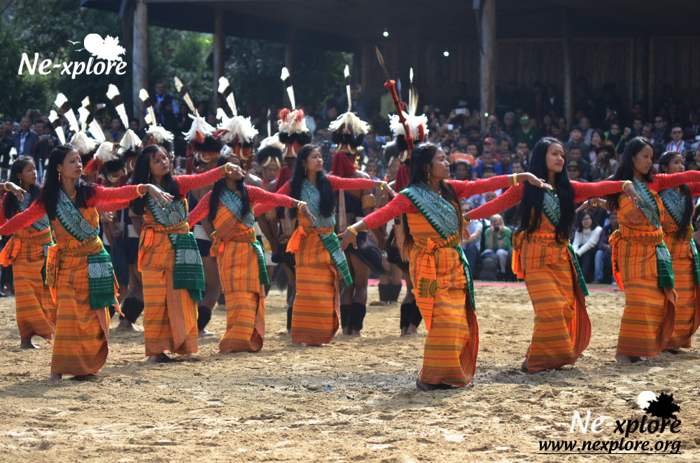 Tribal dance at Hornbill Festival