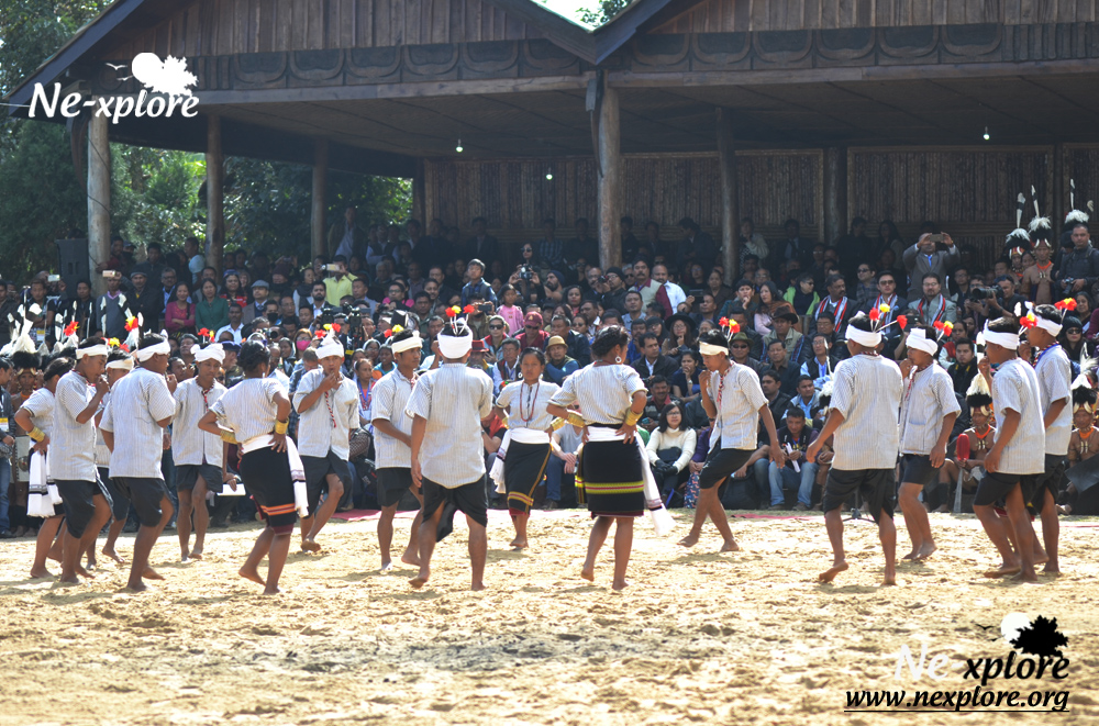 Tribal dance at Hornbill Festival opening ceremony