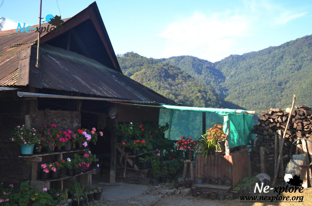 Angami tribal village in khonoma