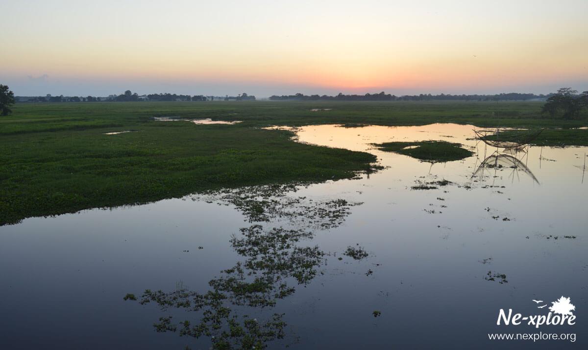 Sunrise at Majuli, Majuli island gallery