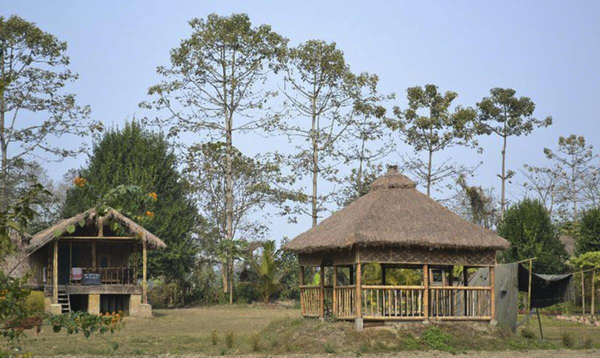 Bamboo cottage Majuli
